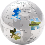 Image of globe with puzzle pieces